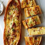 A recipe for Baked Egg Boats.