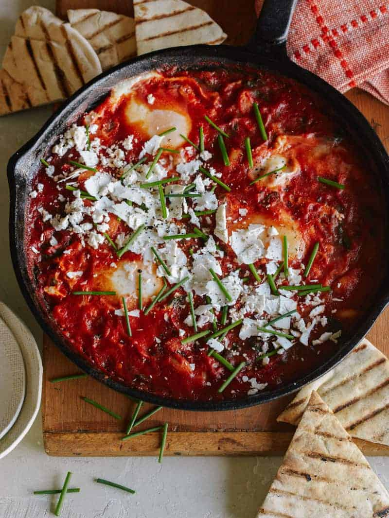 Shakshuka with White Beans and Spinach
