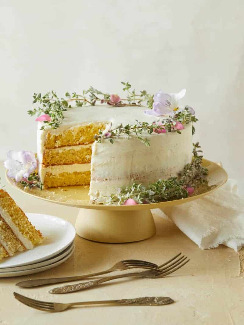 Browned Butter Cake with Vanilla-Honey Frosting