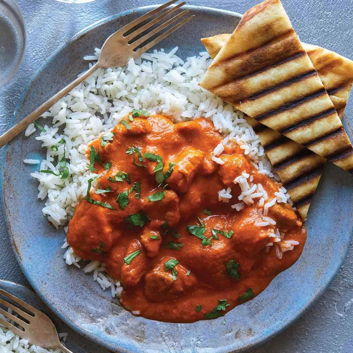 Butter Chicken Recipe Murgh Makhani Spoon Fork Bacon