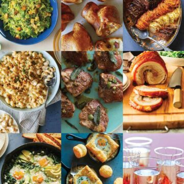 A grid layout of post Easter recipe photos.