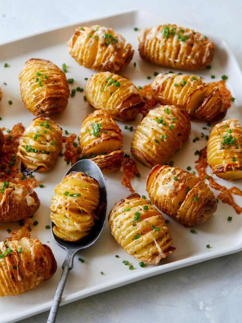 Mini Cheesy Hasselback Potatoes