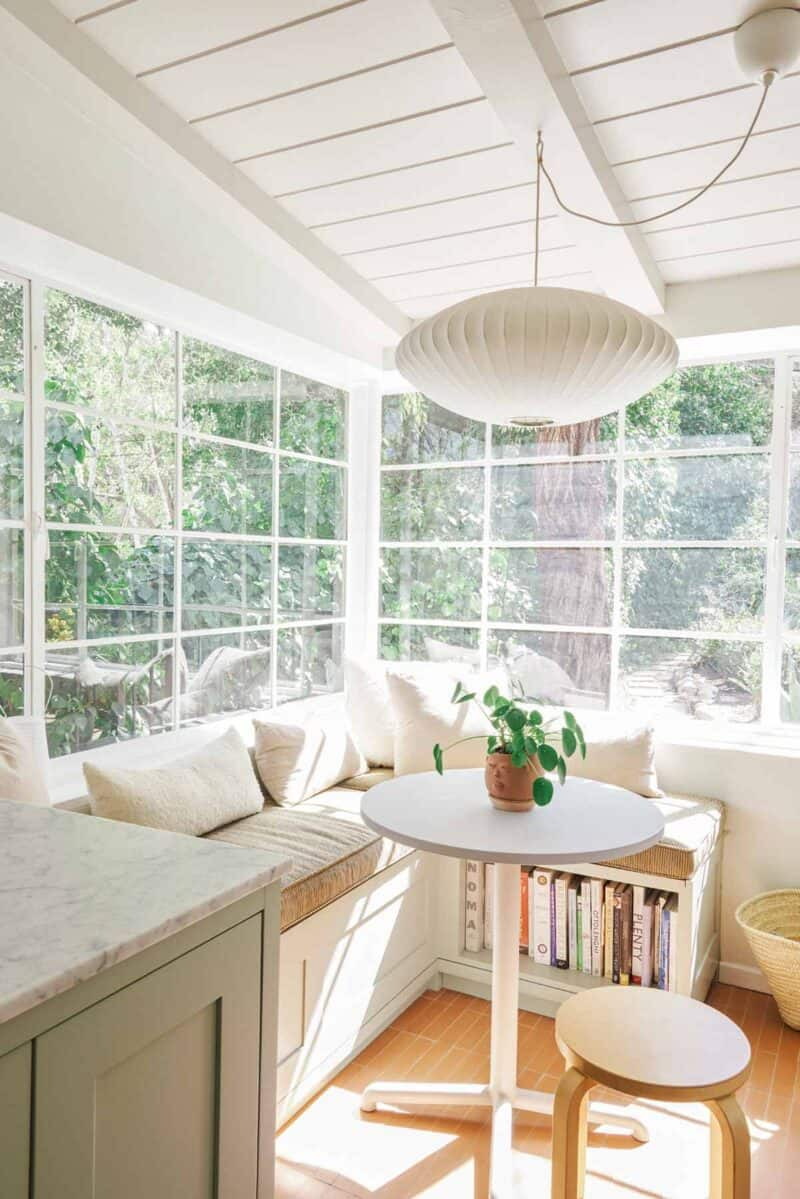 Eat in kitchen nook with big windows and natural light.
