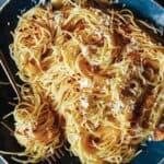 Capellini with garlic and lemon recipe.