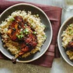 Garlic and ginger braised chicken on rice.