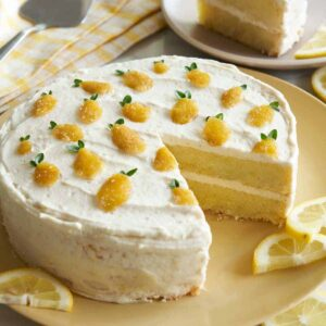 Lemon thyme cake layer cake.