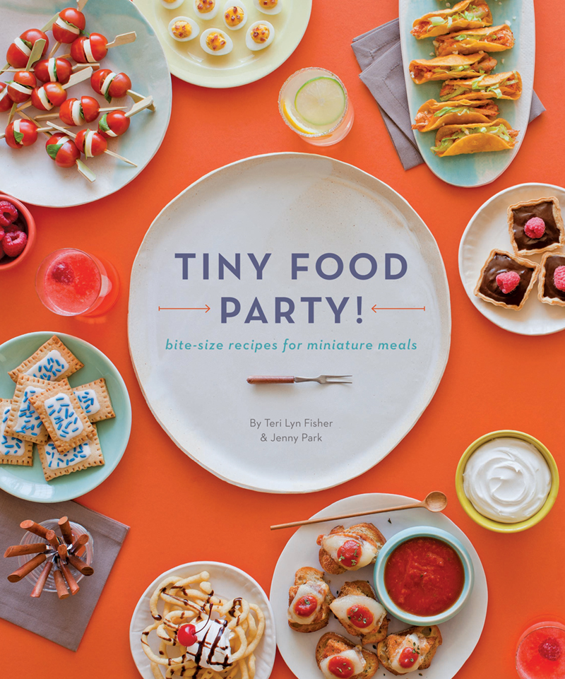The cover of Tiny Food Party by Teri Lyn Fisher and Jenny Park.