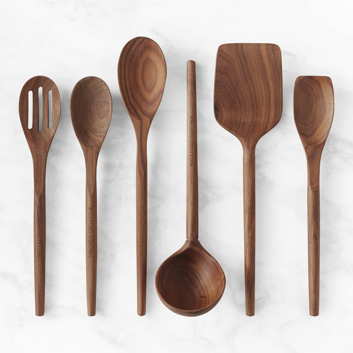A variety of wooden spoons.
