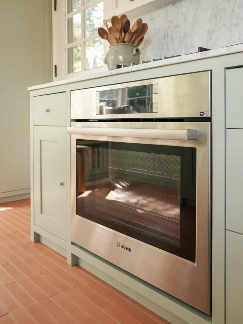 Bosch wall oven inset with cabinetry.