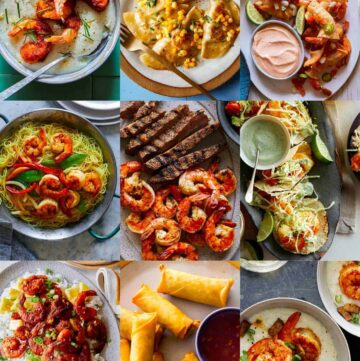 A collage of our best shrimp recipes.