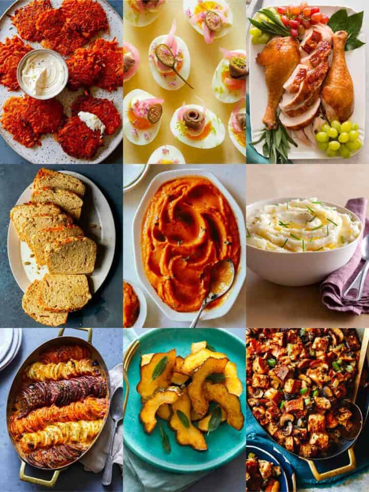 A collage of our best Thanksgiving recipes.