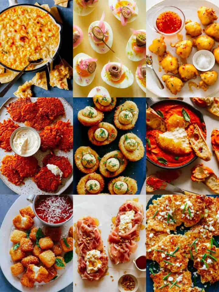 A collage of Christmas Appetizer recipes!
