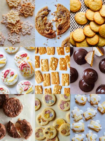 A collage of cookies perfect to make for Christmas.