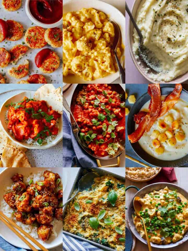 A collage of our best cauliflower recipes!