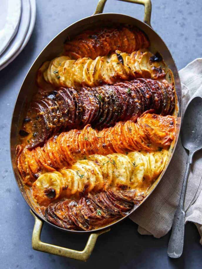 Our best holiday side dish recipes, like this roasted root vegetable gratin,  an Easter dinner side dish.
