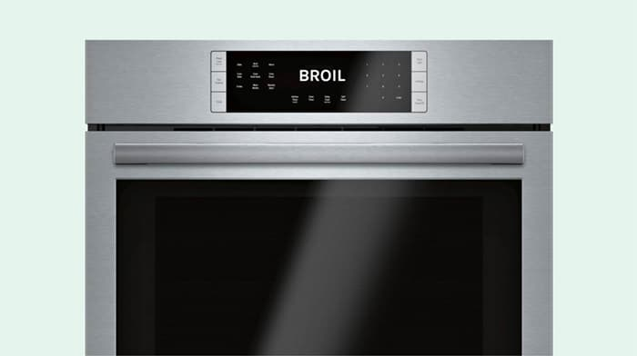 An oven set to broil.