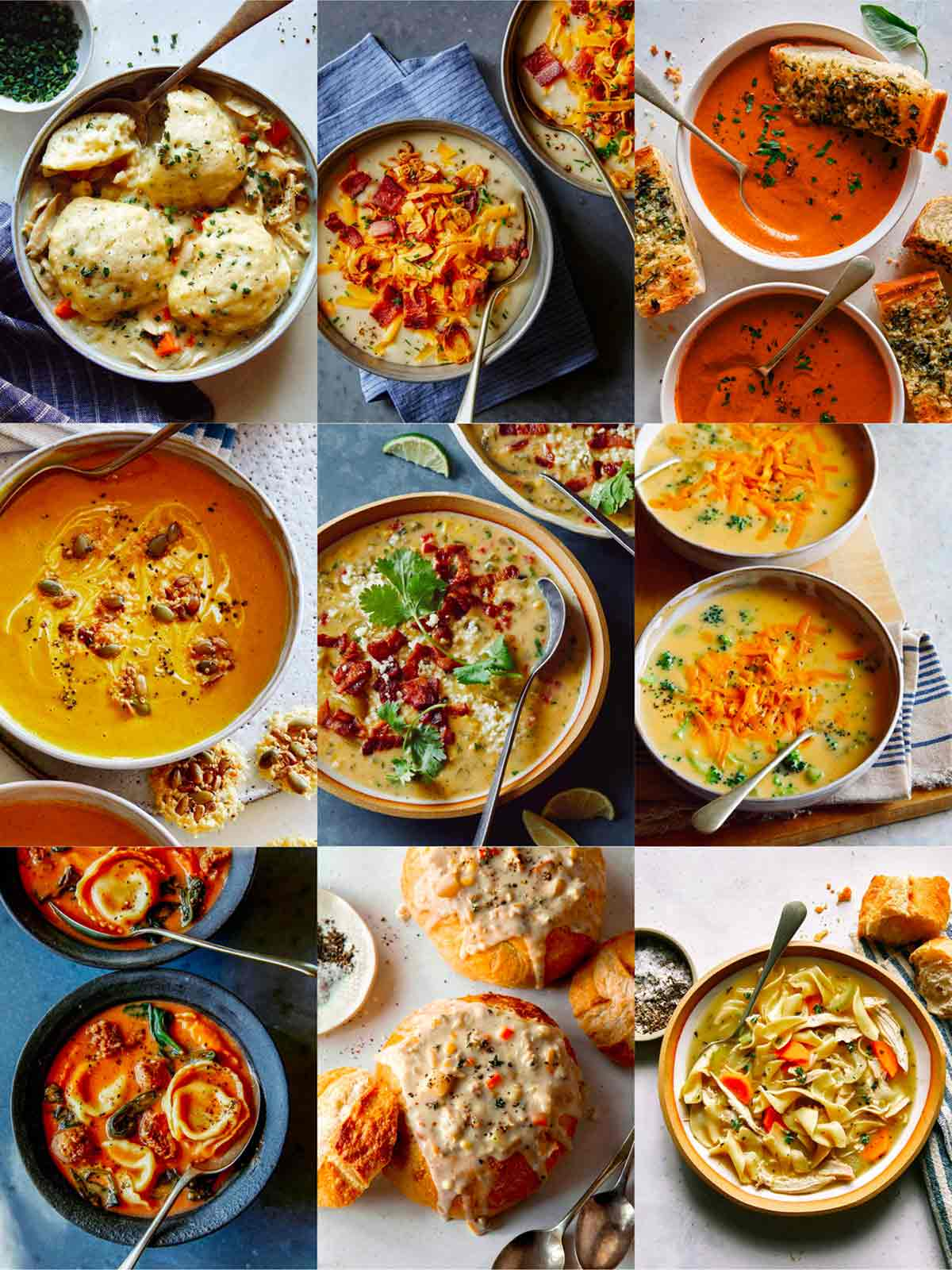 A collage of our best soup recipes.