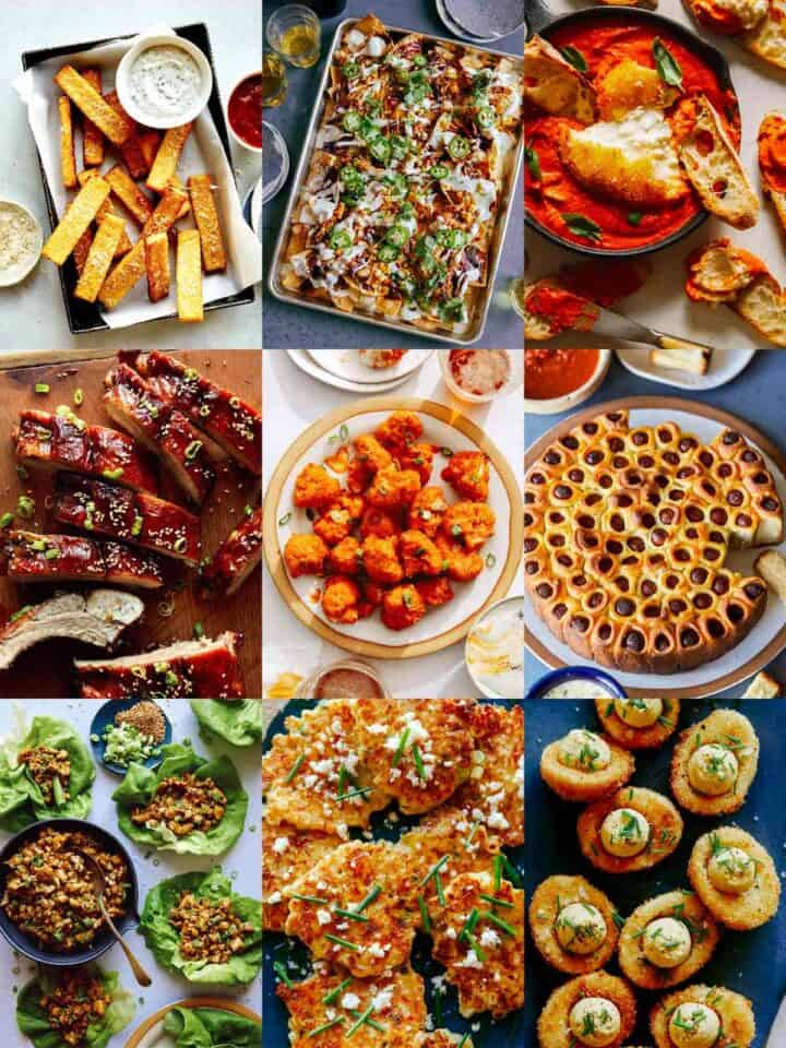 A collage of our best super bowl food.