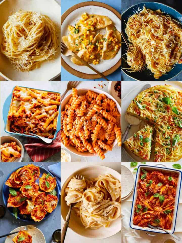 A collage of our best pasta recipes!