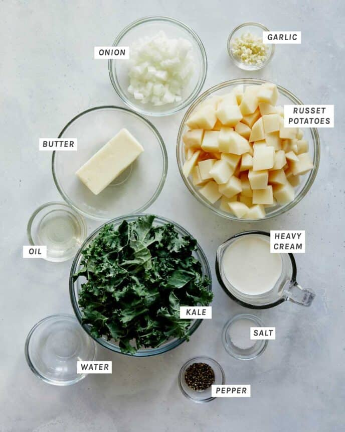 Brown Butter Colcannon recipe ingredients.