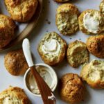Drop biscuits served with softened butter.
