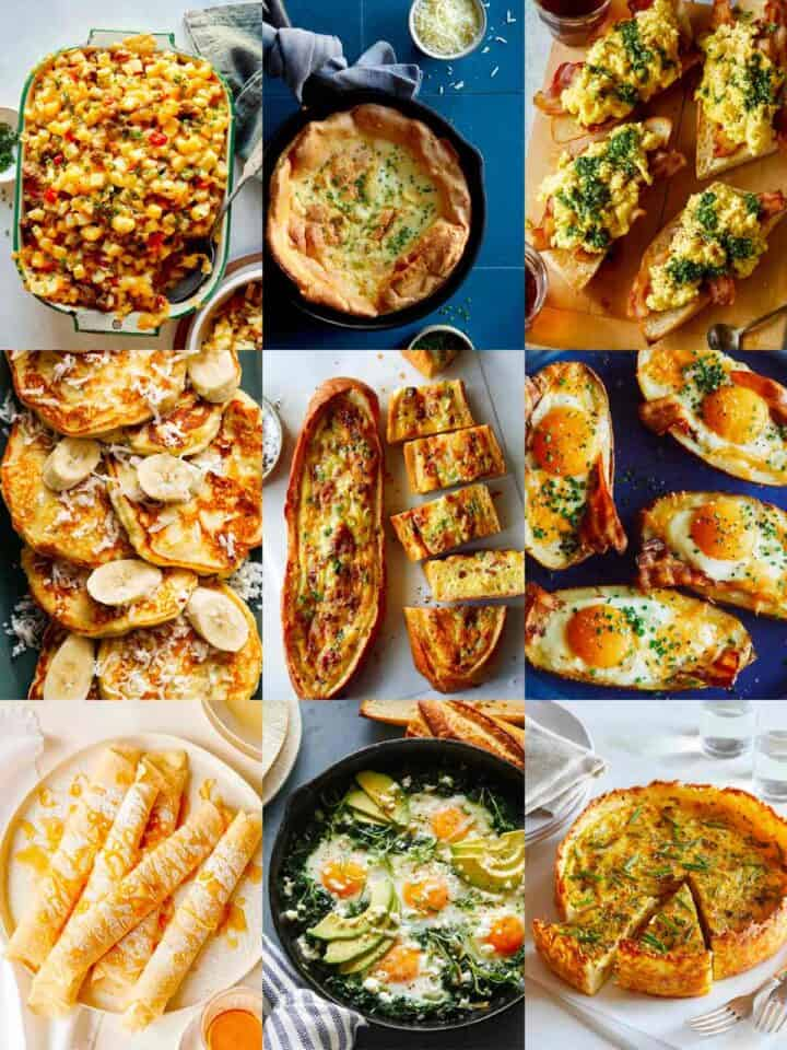 A collage of our best Mothers Day recipes.