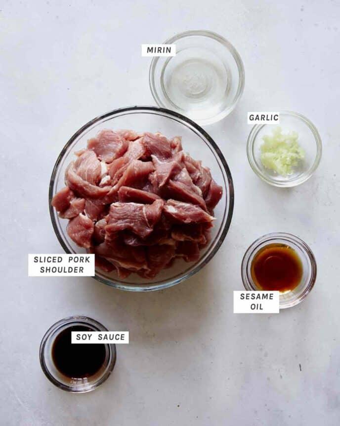 Pad see ew pork ingredients.