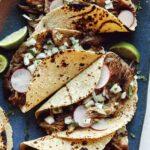 Carnitas recipe with tacos.