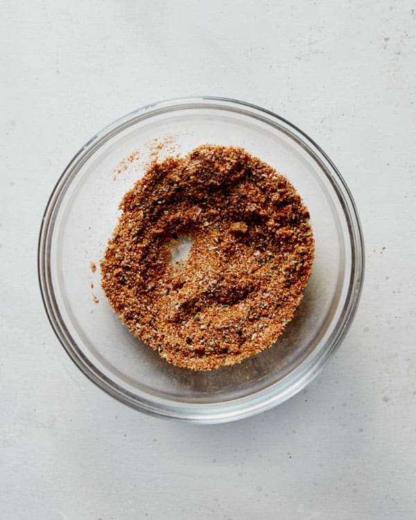 Fajita spices in a bowl mixed together.