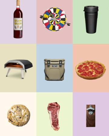 A collage of nine of our favorite fathers day gifts.