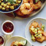 Coconut Shrimp recipe with mango salsa.