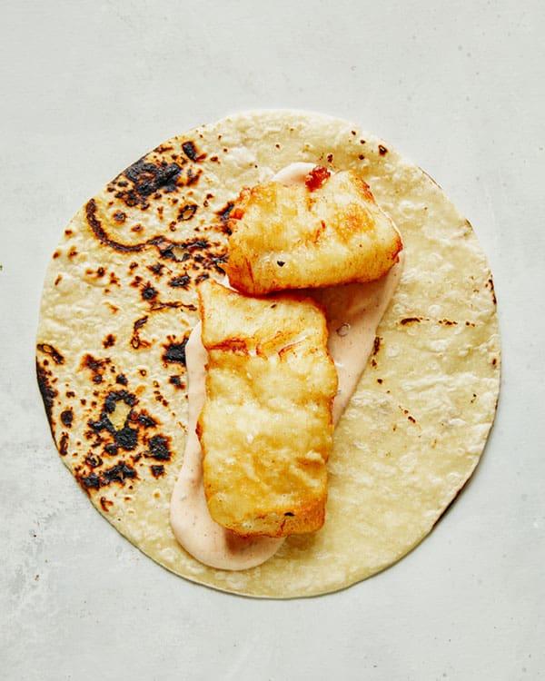 Process of making baja fish tacos recipes.