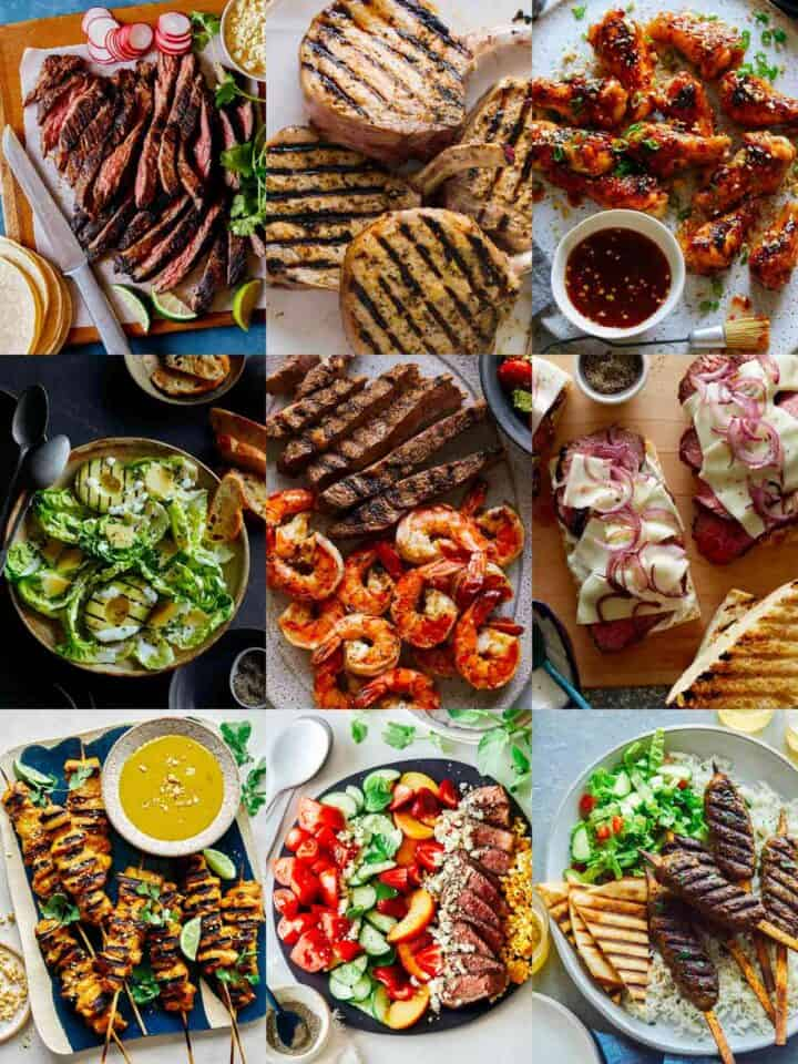 A collage of our best grill recipes!