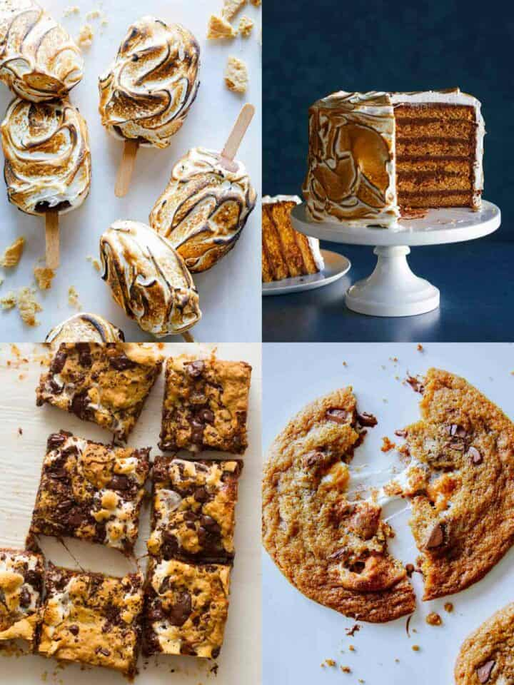 A collage of our favorite S'mores recipes!