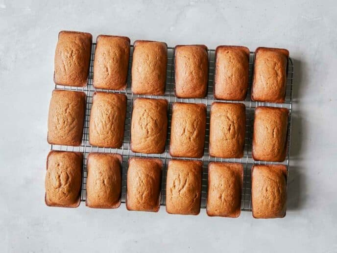 Cooling pumpkin bars on a wire rack.